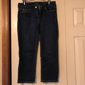 WHBM size 6 slim crop jean pant